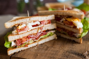 Ferdig BLT-Sandwich